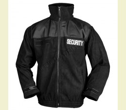 BUNDA FLEECE  ′SECURITY′ ČIERNA