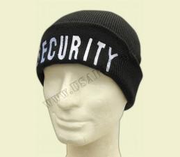 ČIAPKA COMMANDO SECURITY - čierna s nápisom SECURITY