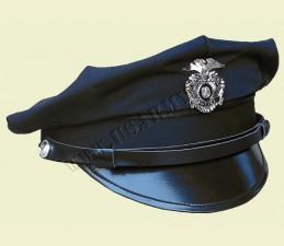 ČIAPKA U.S. POLICE 8-HRANNÁ SO ŠILTOM A ODZNAKOM TMAVO MODRÁ