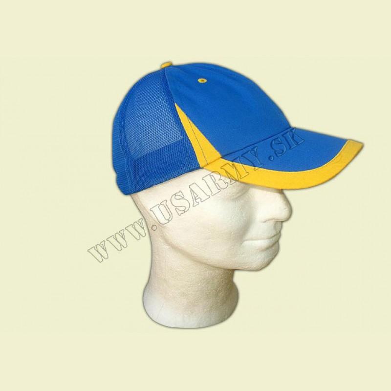 ČIAPKA BASEBALL SIEŤOVÁ 2+4/6929 - kráľovská modrá-žltá
