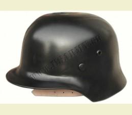 HELMA OCEĽOVÁ WW II (REPRO) S KOŽENÝM VNÚTROM - čierna