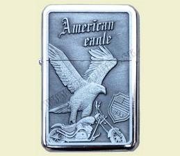 ZAPAĽOVAČ BENZÍNOVÝ AMERICAN EAGLE (RELIÉF OROL) - American eagle Moto