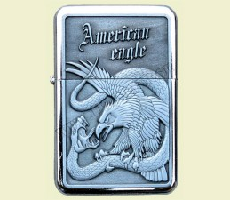 ZAPAĽOVAČ BENZÍNOVÝ AMERICAN EAGLE (RELIÉF OROL) - American eagle Had
