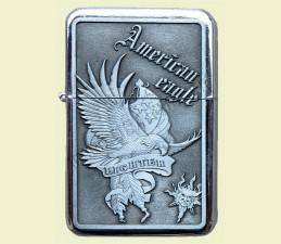 ZAPAĽOVAČ BENZÍNOVÝ AMERICAN EAGLE (RELIÉF OROL) - American eagle Lighter