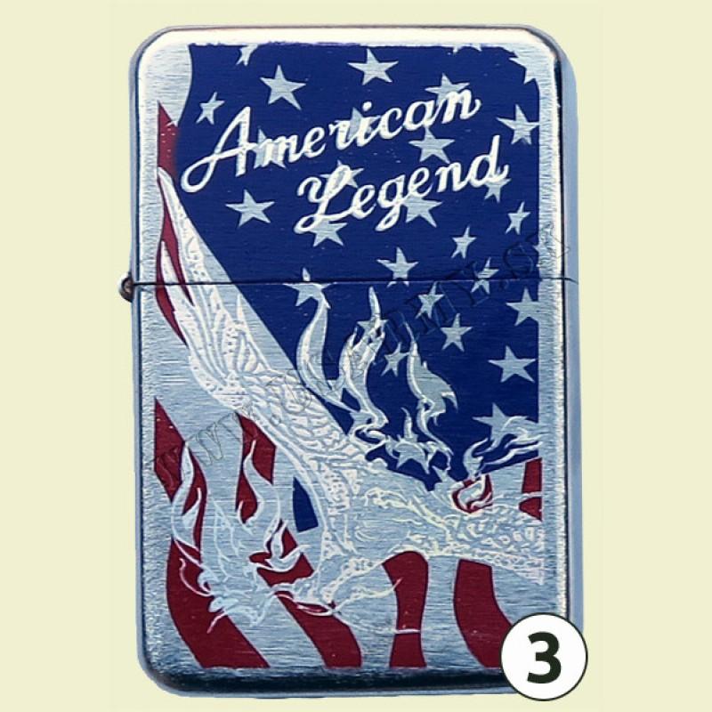 ZAPAĽOVAČ BENZÍNOVÝ AMERICAN LEGEND (VLAJKA USA) - American Legend 3