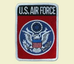 NÁŠIVKA TEXTILNÁ 7,5 x 10,0 cm - U.S. AIR FORCE