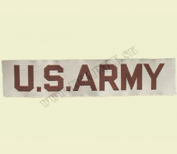 NÁŠIVKA TEXTILNÁ US ARMY POZDĹŽNA 20 x 115 MM - khaki púštna