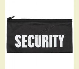 NÁŠIVKA SECURITY SO ZIPSOM ZADNÁ 27,0 x 13,0 CM ČIERNA