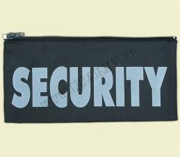 NÁŠIVKA SECURITY SO ZIPSOM NA ZADNÚ STRANU ODEVU - čierna