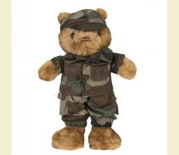 OBLEK NA TEDDY MACKA (30,0 cm) V ŠTÝLE ARMY - WOODLAND
