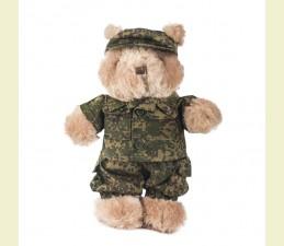 OBLEK NA TEDDY MACKA (30,0 cm) V ŠTÝLE ARMY - RUSKÁ DIG. WOODLAND