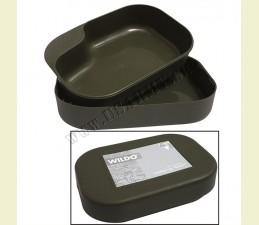 WILDO® NÁDOBA BOX NA POTRAVINY 2 DIELNA - BPA FREE Made in SWEDEN - OLIV ZELENÁ
