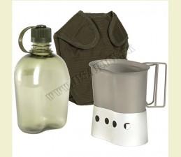 FĽAŠA POĽNÁ GEN.II 1 Qt. BPA FREE SET (FĽAŠA, PODSTAVEC, POŤAH NA FĽAŠU, PITKO 600 ML)