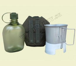 FĽAŠA POĽNÁ GEN. II 1 Qt. BPA FREE SET (FĽAŠA, PODSTAVEC, POŤAH NA FĽAŠU, PITKO 600 ML)