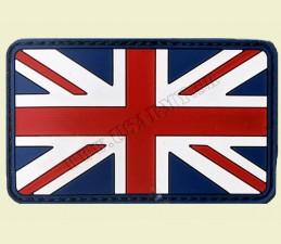 3D NÁŠIVKA 8,0 x 5,0 CM SO ZAPÍNANÍM NA SUCHÝ ZIPS - BRITÁNIA