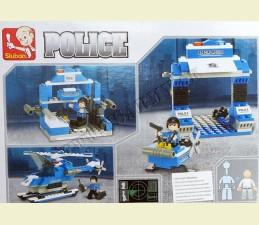 SKLADAČKA SLUBAN POLICE HELIKOPTÉRA - modrá