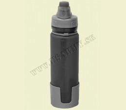 FĽAŠA NA PITIE ROLOVATEĽNÁ 0,5 LTR SILIKÓN (BPA FREE) - sivá