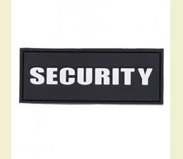 NÁŠIVKA SECURITY 3D PVC 8,6 x 3,3 CM SO SUCHÝM ZIPSOM ČIERNA