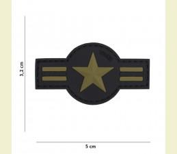 NÁŠIVKA 3D US AIR FORCE SO SUCHÝM ZIPSOM (3,2 x 5,0 cm) - OLIV ZELENÁ
