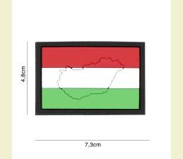 NÁŠIVKA 3D HUNGARY SO SUCHÝM ZIPSOM (4,8 x...