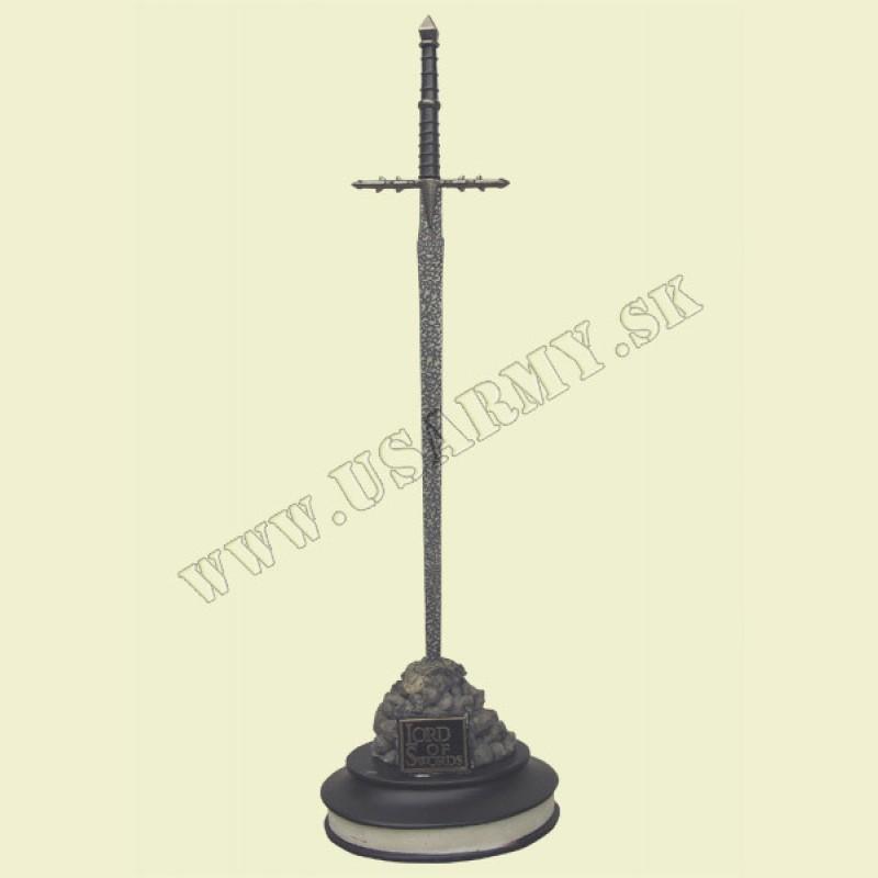 MEČ KRÁTKY ′LORD OF SWORD′ 30,0 CM S DEKORAČNÝM PODSTAVCOM (2)