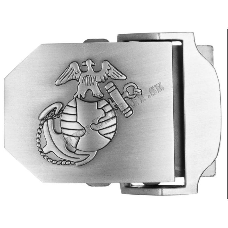 PRACKA NA OPASOK KOVOVÁ USMC (4 CM) - STRIEBORNÁ