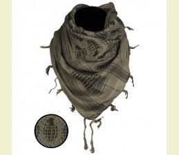 ŠATKA ARAB (SHEMAGH) 110,0 x 110,0 CM ZELENO - ČIERNA GRANÁT
