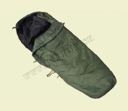 SPACÍ VAK US TYP MODULAR 2-DIELNY MÚMIA S OCHRANOU AŽ DO - 20° C - Vonkajší spací vak: oliv zelená - Vnútorný spací vak: čierna