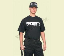 TRIČKO SECURITY NA PREDNEJ STRANE - ČIERNA
