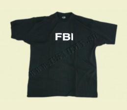 TRIČKO MOTÍV ′FBI′ ČIERNA