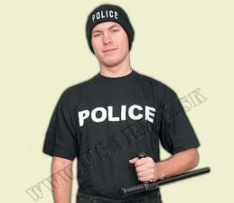TRIČKO MOTÍV ′POLICE′ ČIERNA