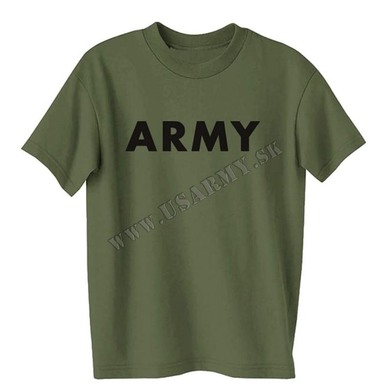 TRIČKO MOTÍV ′ARMY′ MILITARY OLIV