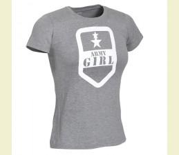 TRIČKO DÁMSKE MOTÍV ′ARMY GIRL′ - SIVÁ