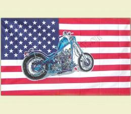 VLAJKA USA MOTORKA - 150 x 90 cm